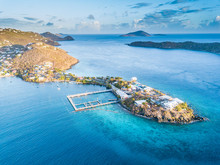 Aerial View Of Caribbean Sea A...
