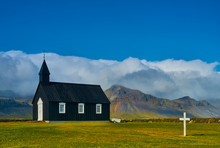 Black Church In Budir, Iceland