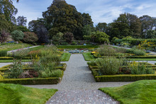 Walled Floral Garden At Castle...