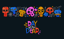 Day Of The Dead Card Colorful ...