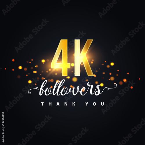 Fototapeta 4k Followers thank you design