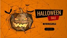 Halloween Sale Low Poly Landin...