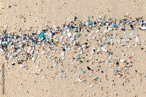 Micro Plastics Washing Ashore On The Beach In Hawaii, USA Canvas Print