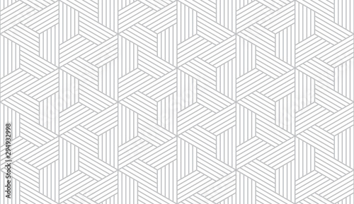 Carta da parati Abstract geometric pattern with stripes, lines
