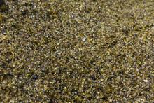 Close Up Of Papakolea Olivine Green Sand Beach On The Big Island Of Hawaii, USA