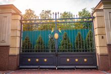 Massive Wrought Iron Gates. Ga...
