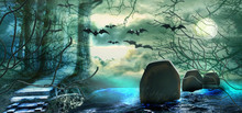Halloween Colorful Background....