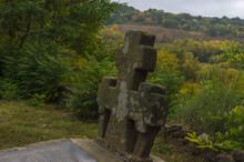 Abandoned Stone Cross Grave Ma...