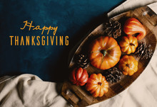 Happy Thanksgiving Text On Aut...