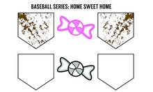 Baseball Home Sweet Home - Vec...