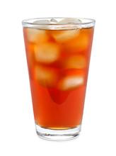 Glass Of Tasty Iced Tea On Whi...