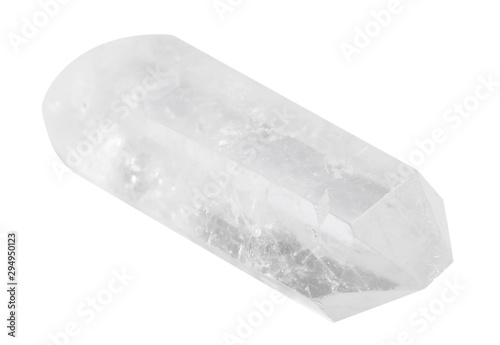 Fotomural Beautiful rock crystal gemstone on white background