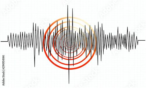 Leinwand Poster earthquake background