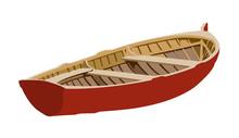 Boat Red Realistic Vector Illu...