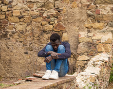 Hombre Joven Negro De Senegal