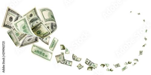 Cuadros en Lienzo  Dollar bill. Washington american cash. Usd money background. Mon