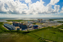 Aerial Photo Of The Turkey Point Nuclear Power Generation Fusion Station Reactors Homestead Florida