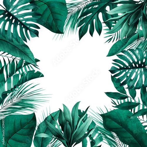 kwadratowa-rama-z-egzotycznymi-monstera-bananem-i-liscmi-palmowymi-w-tle-papeteria-w-stylu-tropikalnym-miejsce-na-tekst