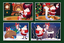 Bundle Christmas Cards With Santa Claus