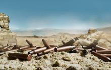 Pile Of Rifle Gun Shells Layin...