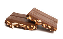 Chocolate With Popped Rice Isolated