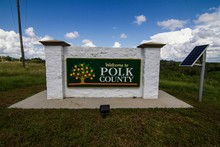 Welcome To Polk County Sign