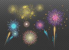 Firecracker Sparks. Holiday Fi...