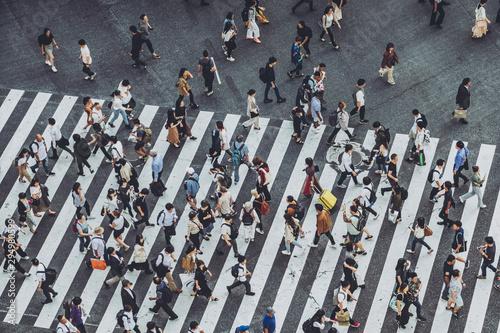 Cuadros en Lienzo 渋谷交差点を歩く人々