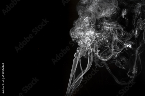 Poster Fumee Abstract smoke image on black background