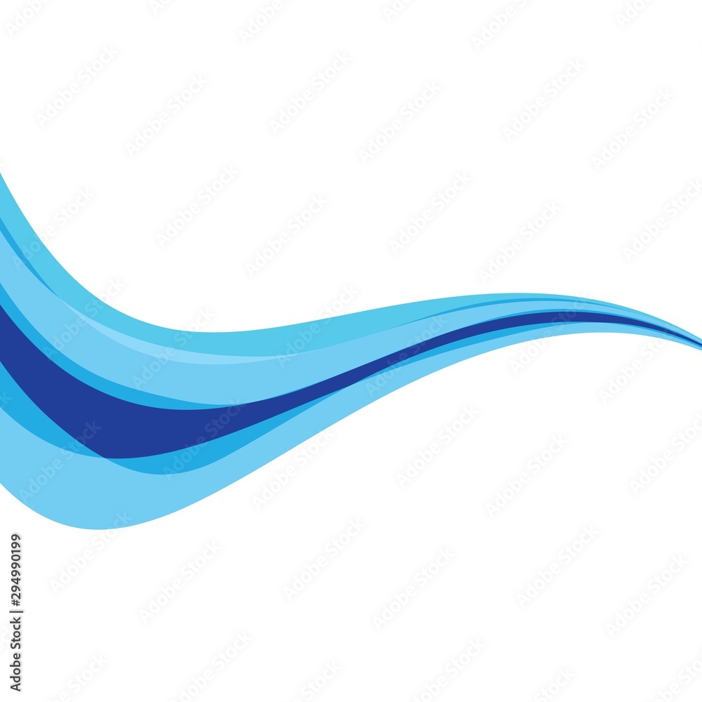 Fototapeta Dynamic texture blue background vector