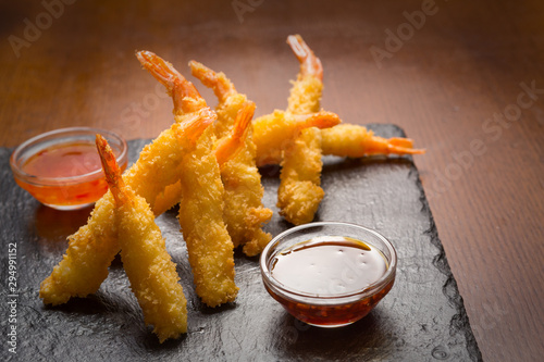 Photo Fried Shrimp with Dipping Sauce
