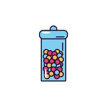 Glass Jar Hard Candy Sweet And...