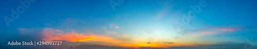 Fotografia  Panorama Sunlight with dramatic sky