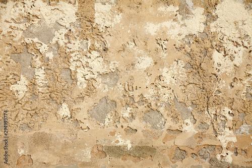 Deurstickers Oude vuile getextureerde muur Mauer, Wand, Textur, Struktur, Close Up