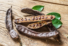 Carob Pods And Carob Beans On ...