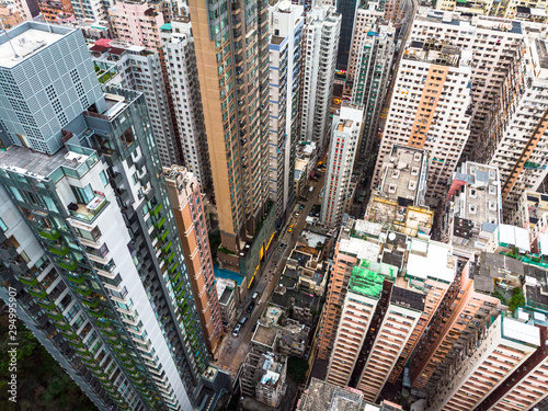 Dramatic view of the very densely populated North Point district in Hong Kong is Canvas Print