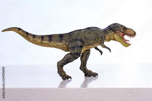 Fototapeta Isolated tyrannosaurus-rex on white background