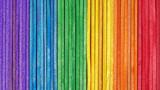 Fototapeta Tęcza - Wooden rainbow color background. LGBT