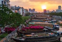 Tet Holiday - Binh Dong Flower Floating Market In Ho Chi Minh, Vietnam