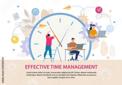 Photo  Effective Time Management Advertising Text Poster