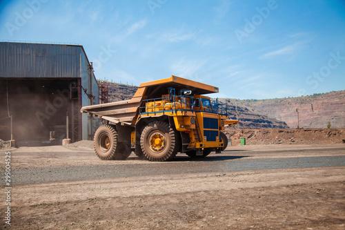 Fotomural  bulldozer at construction site