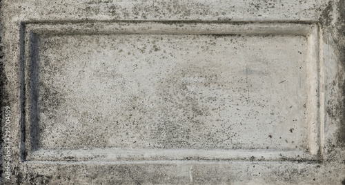 gray stone wall concrete with stone tablet, marble cement wall with space for text, stone tablet for background and texture - 295004559