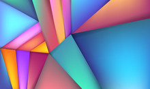 Colorful 3D Abstract Background With Paper Cut Shapes