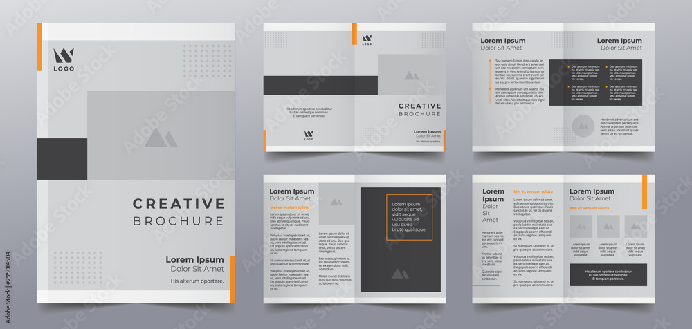 Fototapety, obrazy: business brochure pages design templates