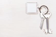 Pair Of Door Keys On Keyring W...