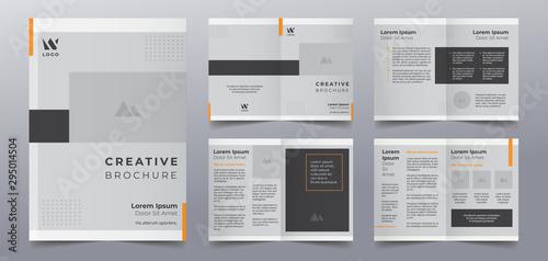 Fototapeta business brochure pages design templates obraz