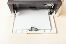 Sheets Of Blank White Paper In...