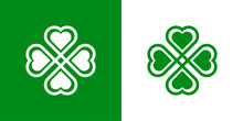Logotipo Con Trebol Lineal Con...