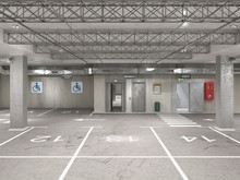 Empty Underground Parking, Sta...