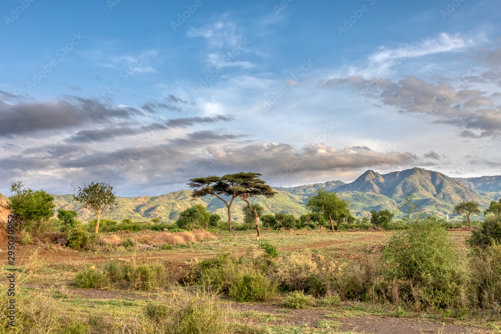 Fototapeta ethiopian landscape near Arba Minch. Ethiopia Southern Nations Region, Africa Omo valley wilderness